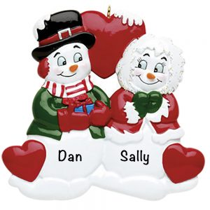Old Santa Couple Personalized Christmas Ornament