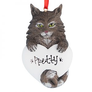 Mainecoon Cat Christmas Ornament