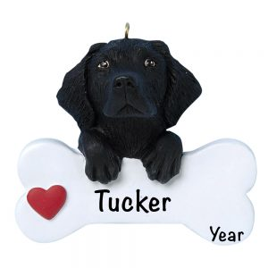 Black Lab Personalized Christmas Ornament
