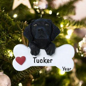 Personalized Black Lab Christmas Ornament