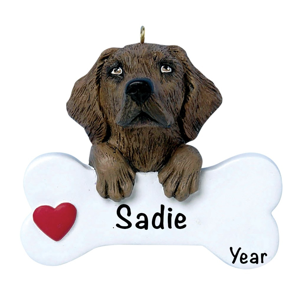 Chocolate Lab Personalized Ornament - Free Personalization