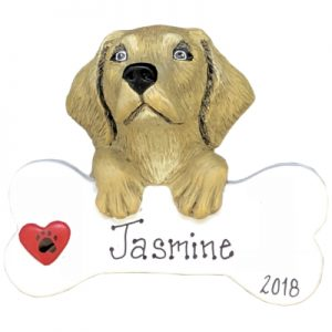 Labrador - Yellow Personalized Ornament