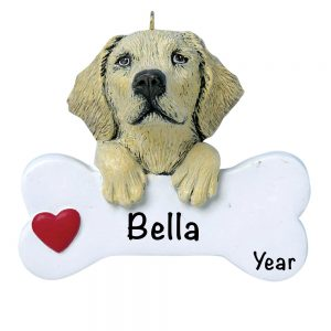 Yellow Lab Personalized Christmas Ornament