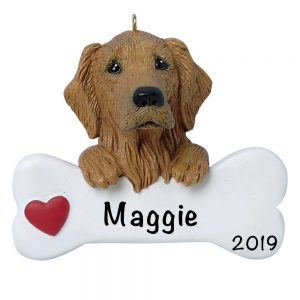 Golden Retriever Personalized Christmas Ornament