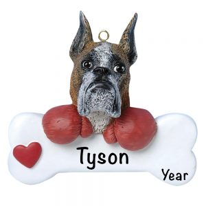 Boxer Personalized Christmas Ornament