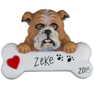 Bulldog Personalized Ornament