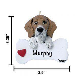 Beagle Personalized Christmas Ornament