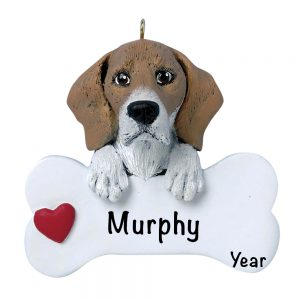 Beagle Personalized Christmas Ornament
