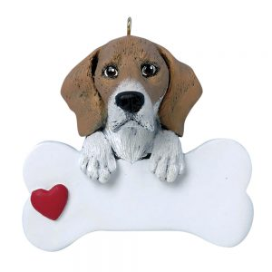 Beagle Personalized Christmas Ornament - Blank