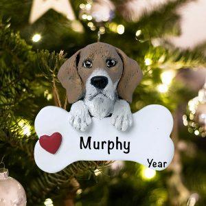Personalized Beagle Christmas Ornament