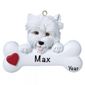 Westie Personalized Christmas Ornament - Blank
