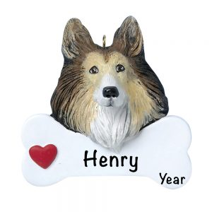 Collie Personalized Christmas Ornament