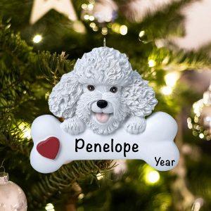 Personalized Bichon Frise Christmas Ornament