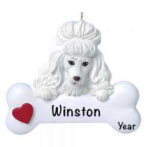 Poodle Personalized Christmas Ornament