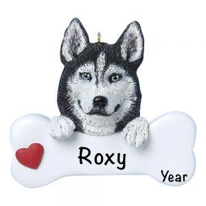 Husky Personalized Christmas Ornament