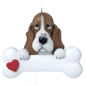 Basset Hound Personalized Christmas Ornament - Blank