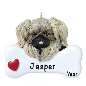 Pekinese Personalized Christmas Ornament