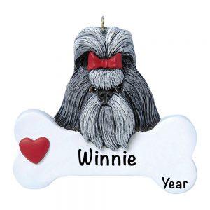 Shi Tzu Personalized Christmas Ornament