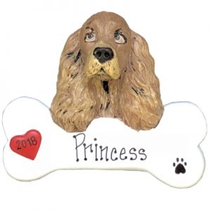 Cocker Spaniel Personalized Ornament