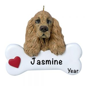 Cocker Spaniel Personalized Christmas Ornament