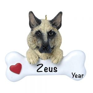 German Shepard Personalized Christmas Ornament