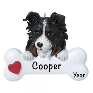 Australian Sheepdog Personalized Christmas Ornament