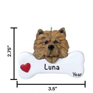 Chow Chow Personalized Christmas Ornament