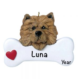 Chow Chow Personalized Christmas Ornament - Blank