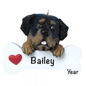 Rottweiler Personalized Christmas Ornament - Blank