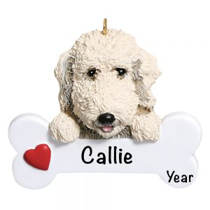 Labradoodle Personalized Christmas Ornament