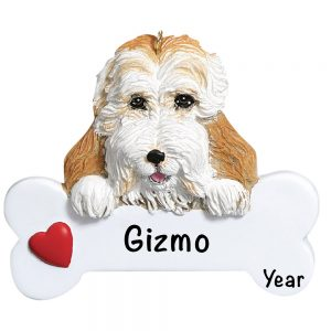 Cockapoo Personalized Christmas Ornament