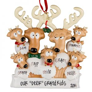 Reindeer Family of 7
