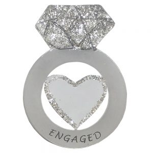 Engagement Ring Personalized Christmas Ornament - Blank