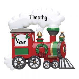 Holiday Train Personalized Christmas Ornament