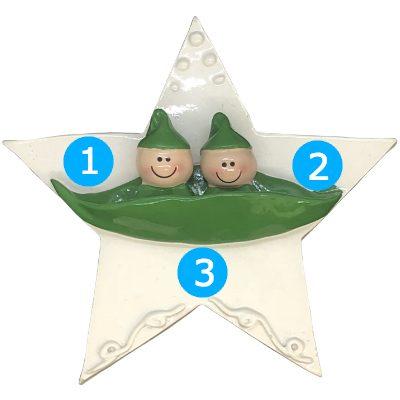 2 Peas in a Pod Personalized Ornament