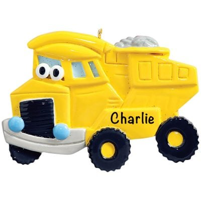 Dump Truck Personalized Christmas Ornament