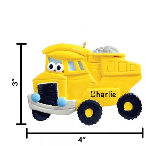 Dump Truck Toy Personalized Christmas Ornament