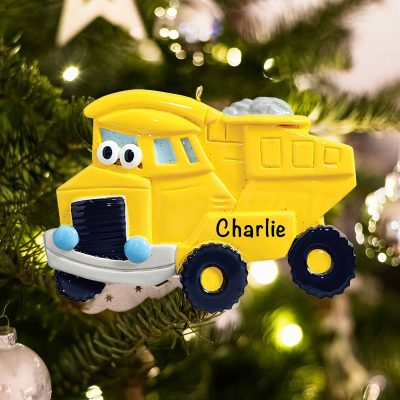 Personalized Dump Truck Toy Christmas Ornament
