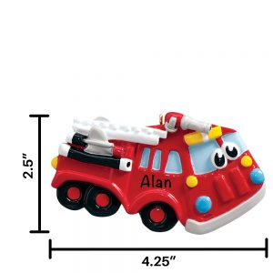 Fire Truck Toy Personalized Christmas Ornament