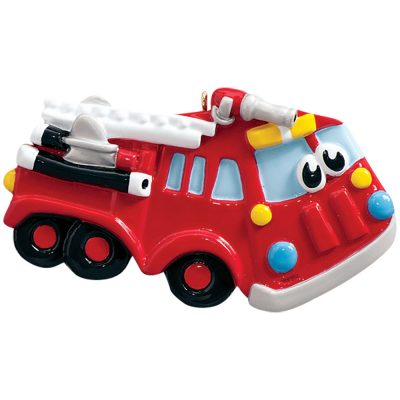 Firetruck Toy Personalized Christmas Ornament - Blank