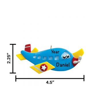 Airplane Toy Personalized Christmas Ornament