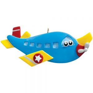 Airplane Toy Personalized Christmas Ornament - Blank