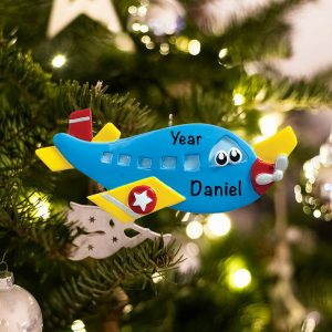 Personalized Airplane Toy Christmas Ornament