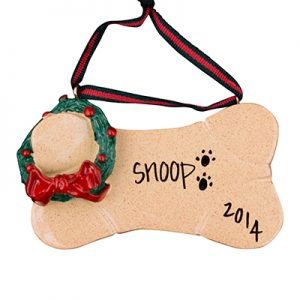 Brown Dog Bone Christmas Ornament