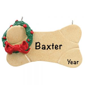 Brown Bone Personalized Christmas Ornament