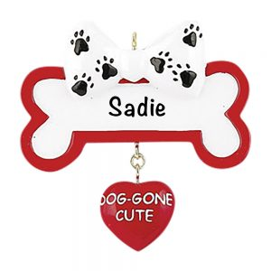Dog Gone Cute Personalized Christmas Ornament