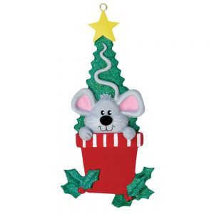 Mouse Personalized Christmas Ornament - Blank