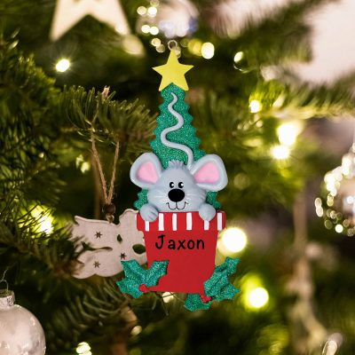 Personalized Mouse Christmas Ornament