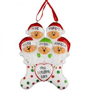 Stocking Cap Bears Family of 5