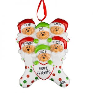 Stocking Cap Bears Family of 6
